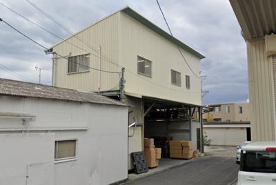 【外観】岸和田摩湯/2階建倉庫 約161坪 事務所(2階部分)駐車スペース有 !