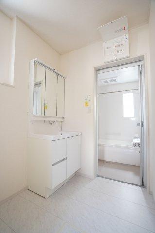 清潔感のある洗面所!