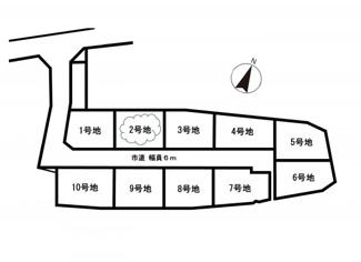 【土地図】近江八幡市加茂町 2号地 売土地