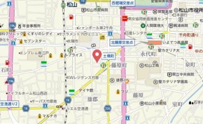 【地図】ハイツ松山ビル