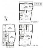 横浜市西区元久保町 新築戸建て 勾配天井がオシャレな2LDK+2S!!の画像