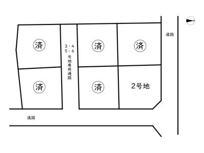 【区画図】揖保郡太子町鵤/6区画