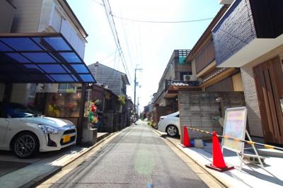 【前面道路含む現地写真】京都市南区八条源町 新築戸建