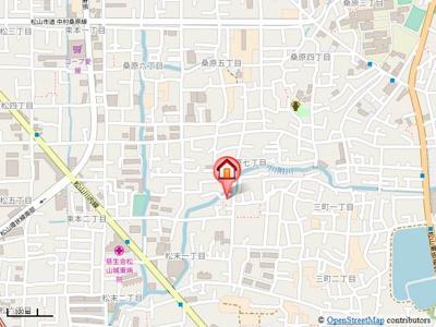 【地図】ピースフル松末・