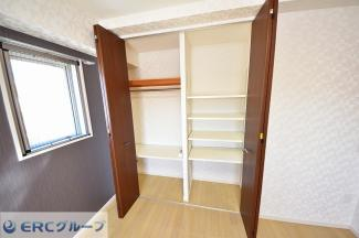 各部屋収納が充実しており、お部屋がすっきりします。