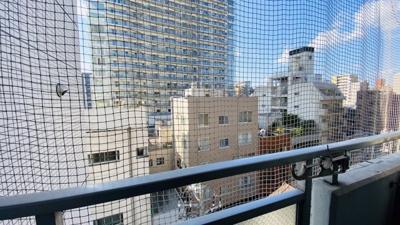 前面に大きな棟がなく開放的な眺望です。