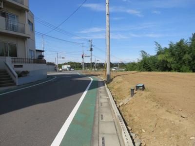 【前面道路含む現地写真】東松山市高坂売地