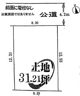 【土地図】鶴ヶ島市脚折 建築条件なし売地 「一本松駅」徒歩23分