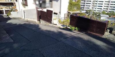 【前面道路含む現地写真】垂水区霞ケ丘3丁目 土地