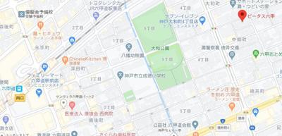 【地図】ビータス六甲