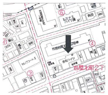 【地図】岩北ハイツ
