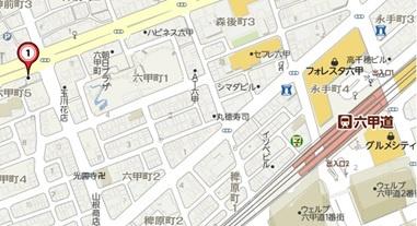 【地図】ロマネスク六甲