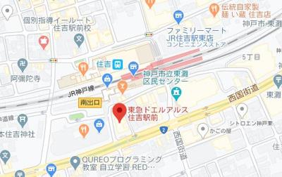【地図】東急ドエルアルス住吉駅前