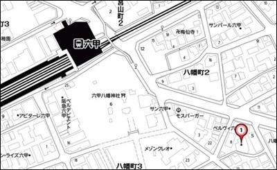 【地図】クロイツエルハウゼン六甲