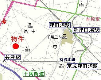 【地図】ツインコーポ谷津A