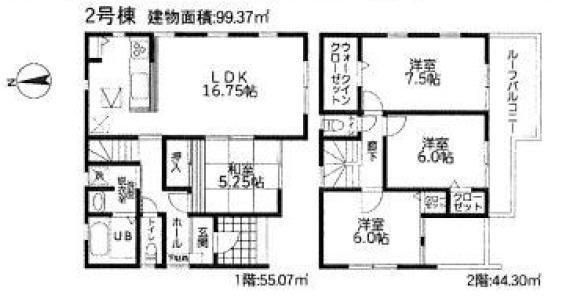 【土地図+建物プラン例】売地 平塚市四之宮18-1期 宅地2