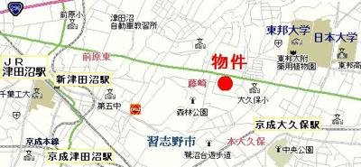 【地図】ボナールハイム