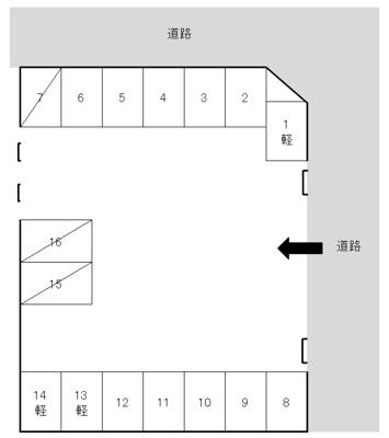 【区画図】綾羅木本町6丁目N駐車場