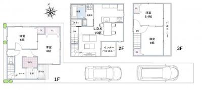 反転タイプ。建物価格:1760万円、建物面積92.34㎡、間取:3LDK+S
