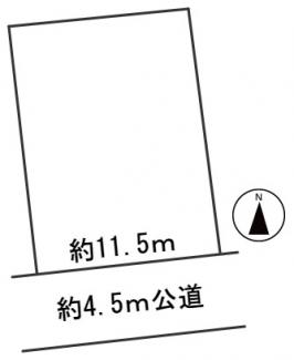 【区画図】55710 関市迫間台土地