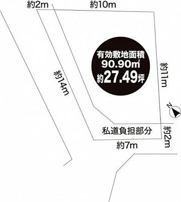 【区画図】垂水区西舞子9丁目 新築一戸建