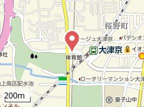 【地図】アークリード大津京