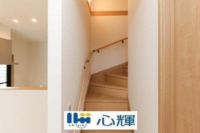 リビング階段は子育て世代に人気です♪