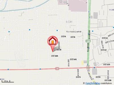 【地図】フレグランス関谷