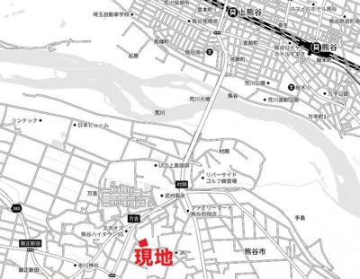 【地図】熊谷市村岡分譲地