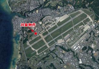 【地図】軍用地【嘉手納飛行場】70㎡
