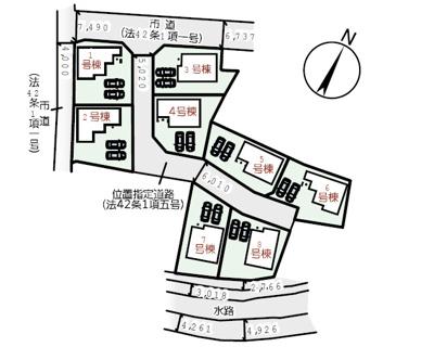 【区画図】リーブルガーデン浅口・鴨方町六条院中 5号棟