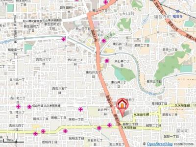 【地図】ライブタウン椿・