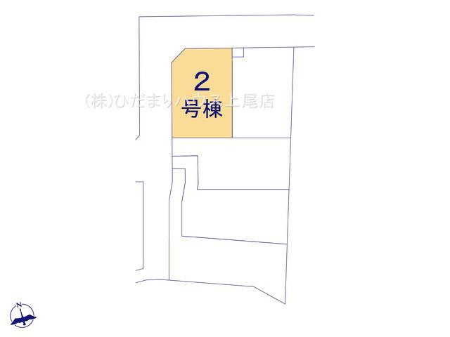 【区画図】上尾市瓦葺 第14 新築一戸建て クレイドルガーデン02