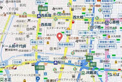 【地図】ルミエール南堀江
