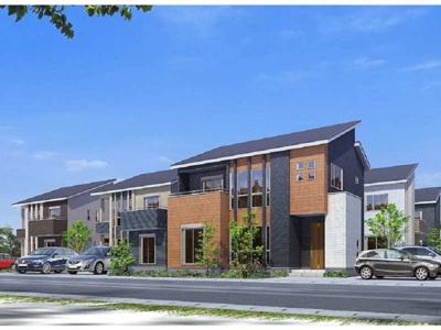 【外観パース】タマタウン羽生市南 新築戸建て-全7棟-