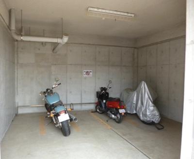 バイク駐輪可能。
