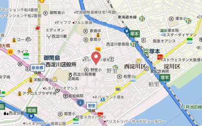 【地図】フジパレス塚本Ⅴ番館