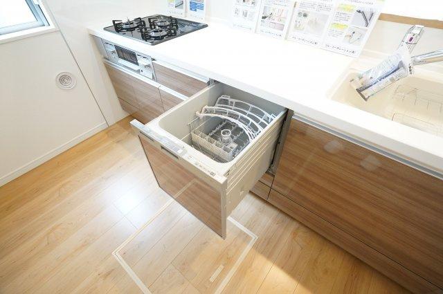 食洗機付きで洗い物の負担が少なくなりますよ。