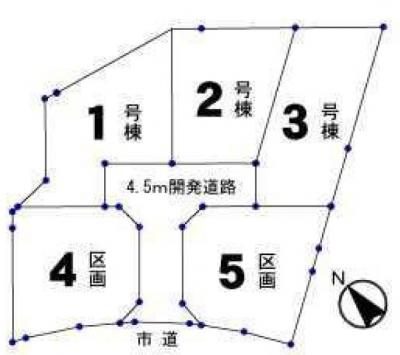 【区画図】青梅市今井1丁目・全5棟 新築一戸建 2号棟