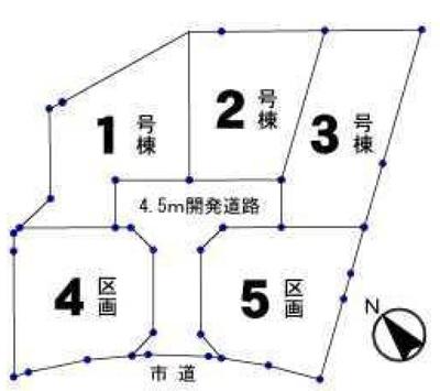【区画図】青梅市今井1丁目・全5棟 新築一戸建 4号棟