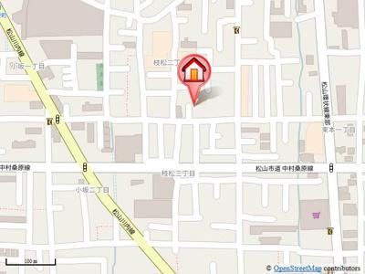 【地図】フレグランス枝松・