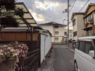【前面道路含む現地写真】京都市山科区東野南井ノ上町