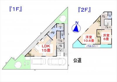 【土地図+建物プラン例】高知県高知市西久万 売土地
