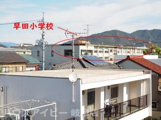 北側窓から早田小学校が見えます!岐阜市学園町・中古住宅。3階建。