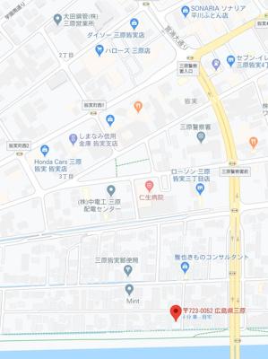 【地図】皆実6丁目 売土地(上物有)