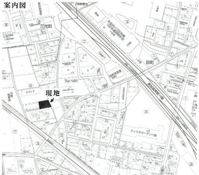 【地図】田町売り土地