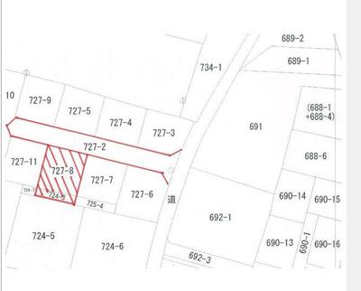 【区画図】甲斐市大下条 売地