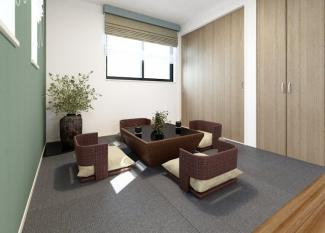 リビングと和室との続き間がとても魅力的。こだわりの設計が目を引く間取りです