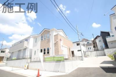 【外観:施工例】座間市相模が丘6丁目 2号棟 新築戸建 全2棟【仲介手数料無料】