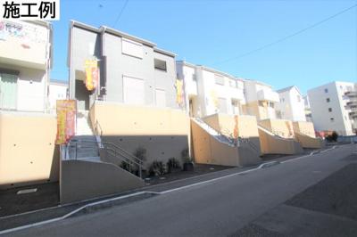 【外観:施工例】座間市新田宿 2号棟 新築戸建 全8棟【仲介手数料無料】